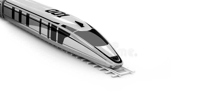 Wysoka prędkości kolejka, 3d ilustracja odizolowywał biel ilustracji