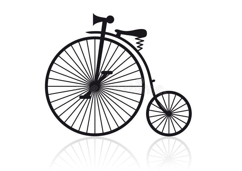 wysoka rowerowy kół ilustracji