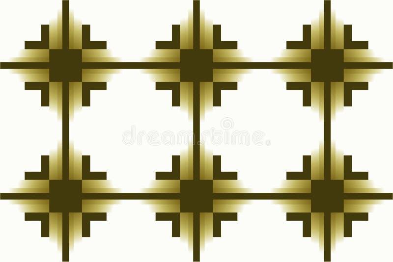 Wysoka rozdzielczość raster tekstury Ciemnozielona w kratkę pasiasta geometryczna prostokątna niekończący się bezszwowa deseniowa royalty ilustracja