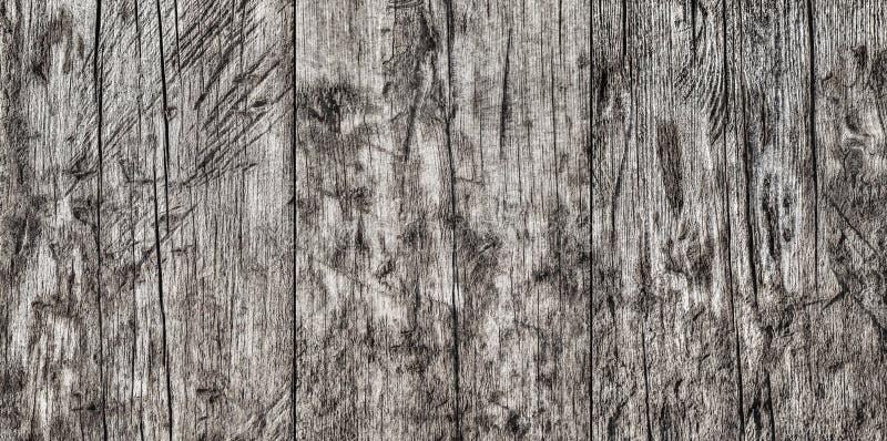 Wysoka Rozdzielczość Stary Wietrzejący Powyginany Krakingowy Supłający Pinewood zdjęcia stock