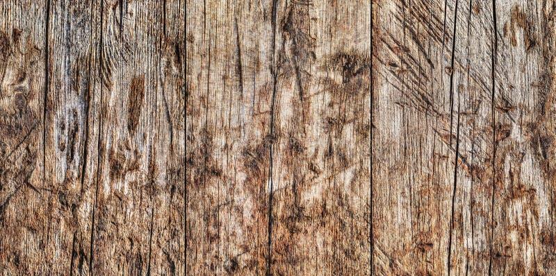 Wysoka Rozdzielczość Stary Wietrzejący Powyginany Krakingowy Supłający Pinewood fotografia stock