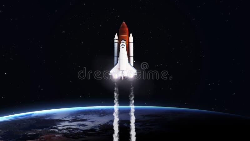 Wysoka rozdzielczość wizerunek bierze daleko Astronautyczny wahadłowiec obrazy stock