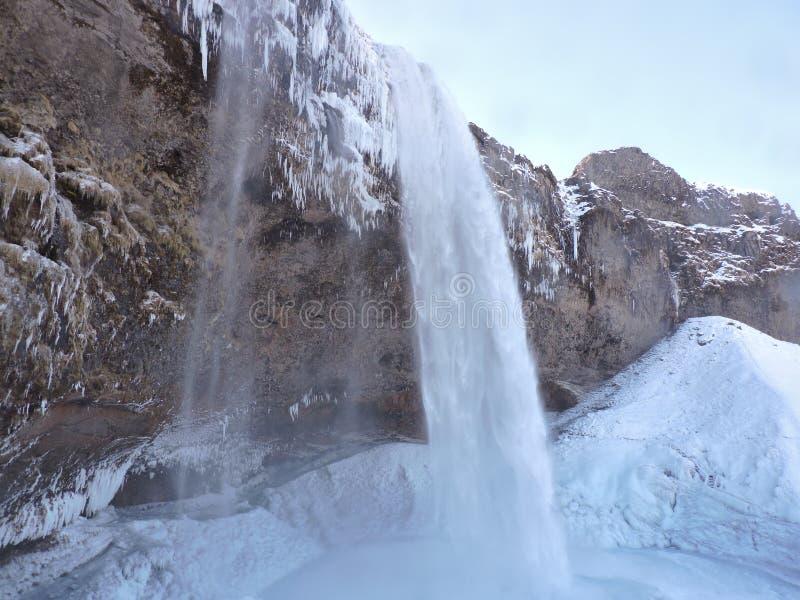 Wysoka siklawa, Iceland zdjęcie stock