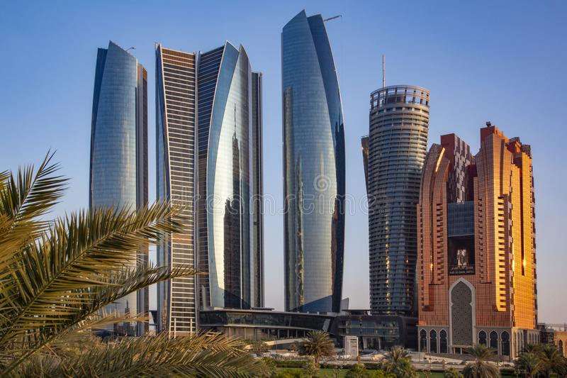 Wysoki Abu Dhabi obrazy royalty free