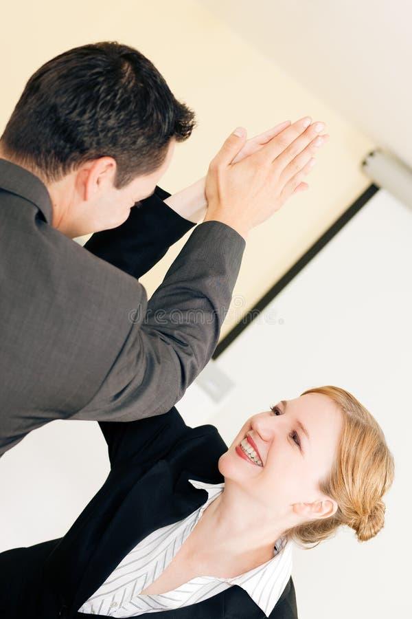 wysoki biznesu sukces pięć zdjęcie stock