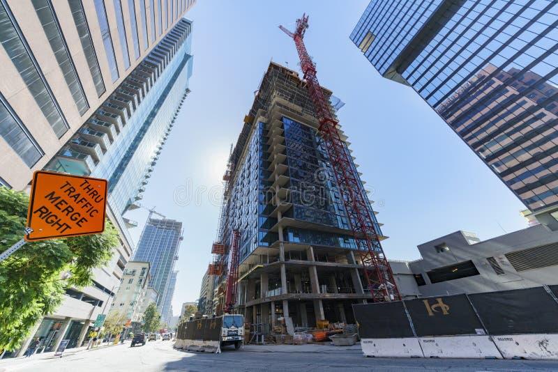 Wysoki budynek w budowie zdjęcie royalty free