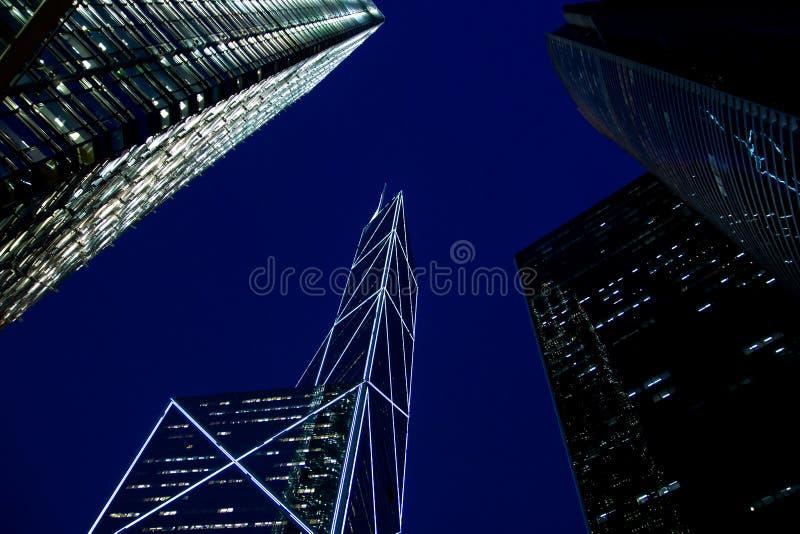 Wysoki budynek w Hongkong mieście obrazy stock