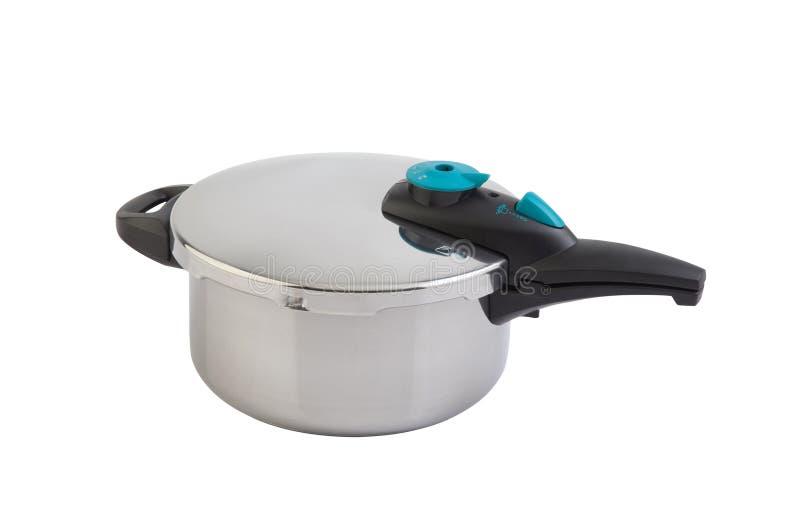 Wysoki ciśnieniowy aluminiowy kucharstwo garnek zdjęcie stock