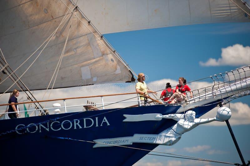 wysoki concordia statek obrazy royalty free