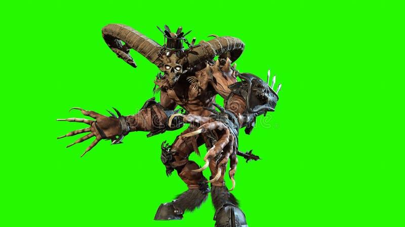 Wysoki demon 3d odpłaca się ilustracja wektor