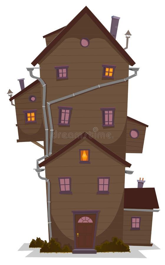 Wysoki Drewniany dom ilustracji