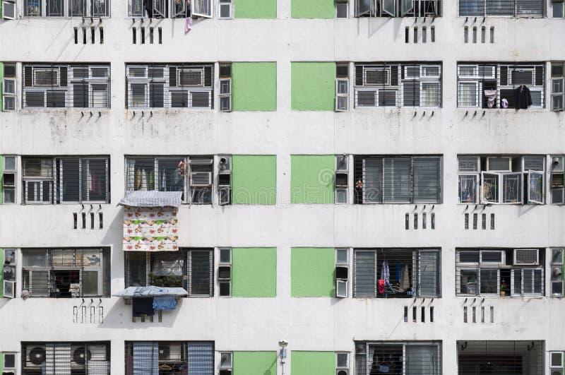 Wysoki - gęstości mieszkanie państwowe na Lek Yuen nieruchomości, Sha cyna, Hong Kong zdjęcia stock
