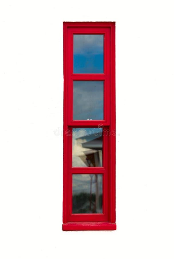 Wysoki i wąski czerwony okno obraz royalty free