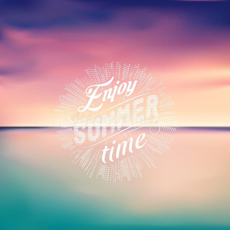 wysoki jpg rezolucji morza słońca Seascape tło lato się razem royalty ilustracja