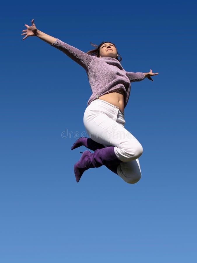 wysoki jumping fotografia stock
