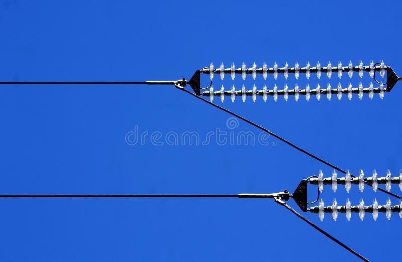 wysoki kabla woltaż zdjęcie stock