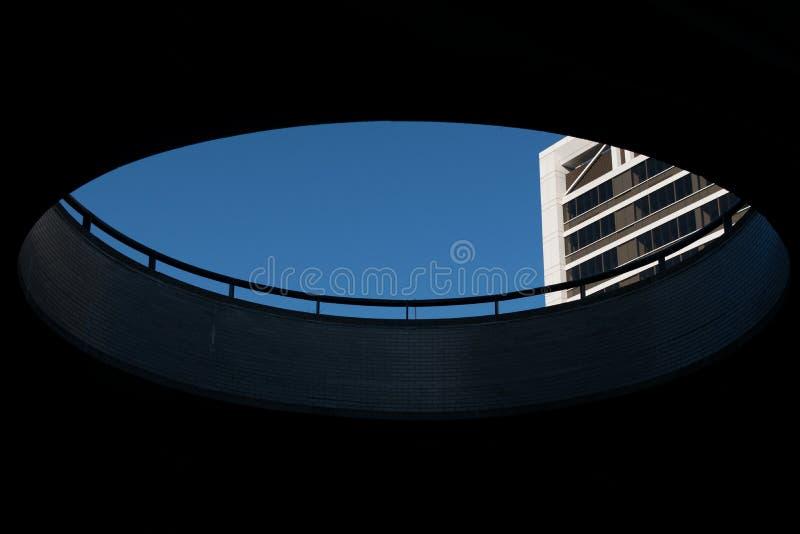 Wysoki Miasto Nowy Jork budynek, widzieć przejścia podziemnego otwarcie, Harlem, NY, usa obrazy stock