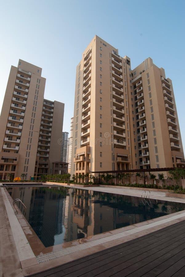 wysoki mieszkanie wzrost fotografia royalty free