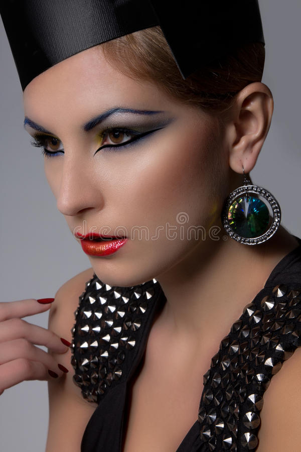 wysoki mody headshot obrazy stock