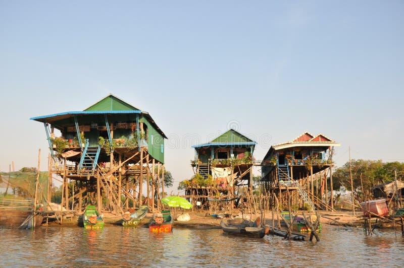 Wysoki noga dom w Kambodża zdjęcia stock