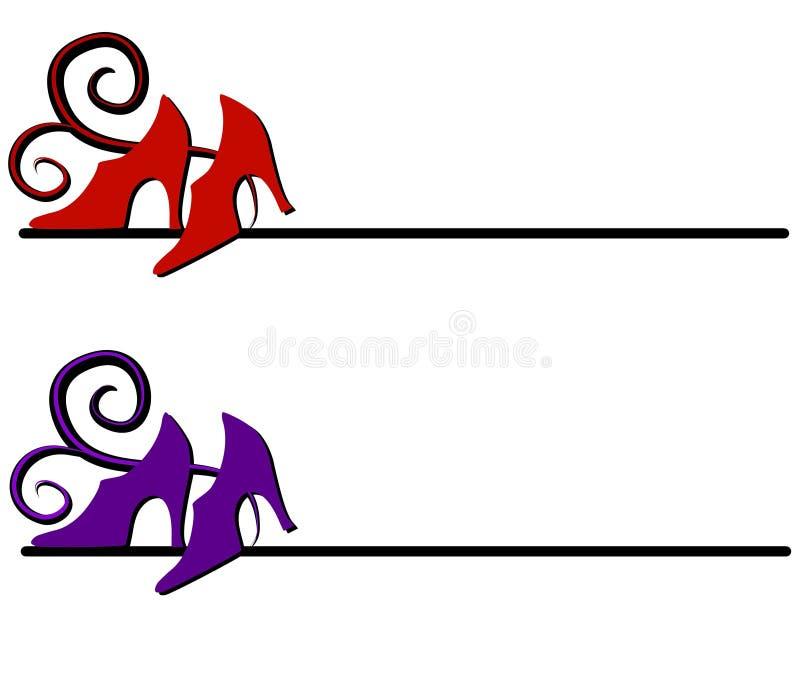 wysoki piętowy logo buty sieci royalty ilustracja