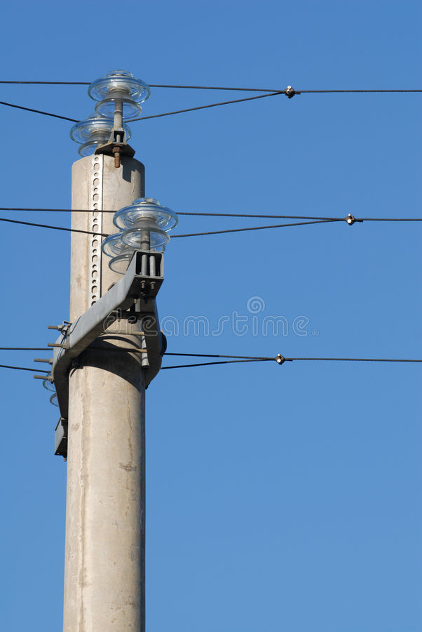 wysoki pilonu napięcia fotografia stock