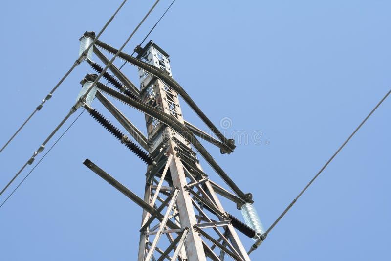 wysoki powerlines napięcia zdjęcie royalty free
