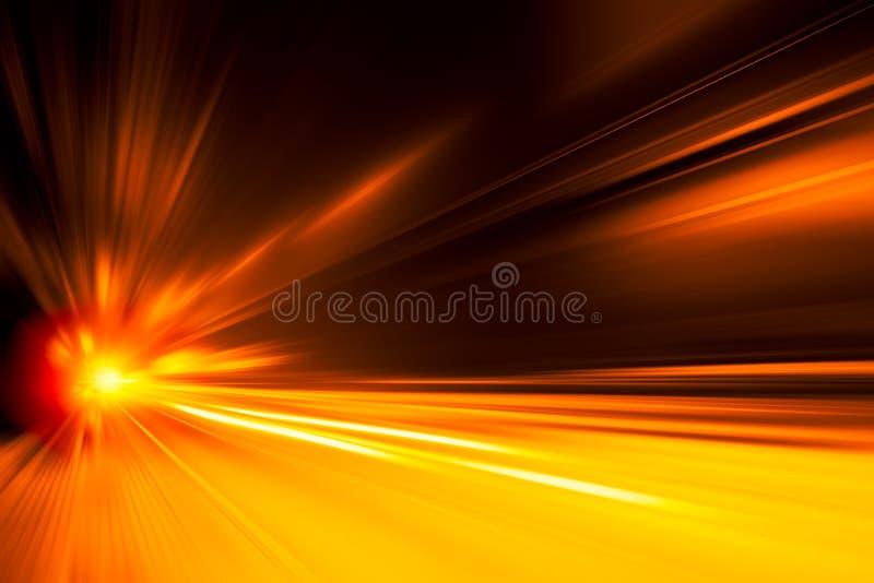 Wysoki prędkość biznes i technologii pojęcie, przyśpieszenie pośpiesznego samochodu przejażdżki ruchu super szybka plama obrazy stock