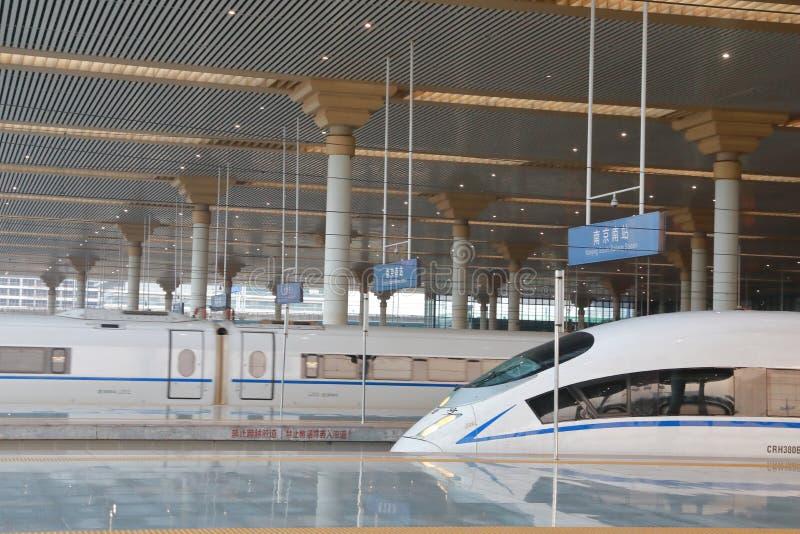 Wysoki prędkość pociąg Chiny usprawniony projekt nowożytny pociska pociąg obraz stock