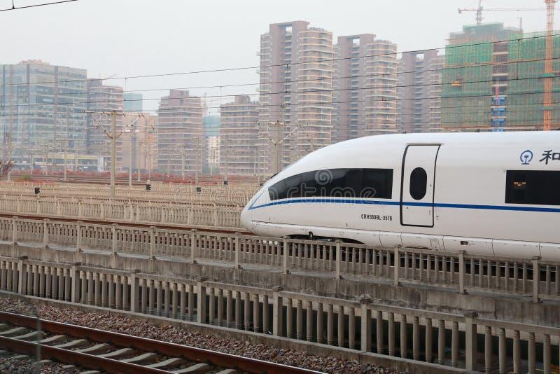 Wysoki prędkość pociąg Chiny usprawniony projekt nowożytny pociska pociąg obrazy stock