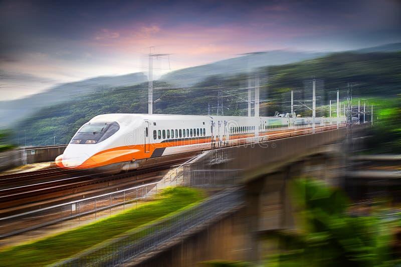 Wysoki prędkość pociska pociąg zdjęcie royalty free