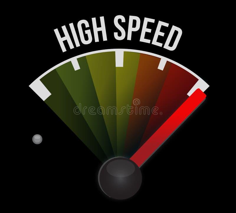 Wysoki prędkość szybkościomierz royalty ilustracja