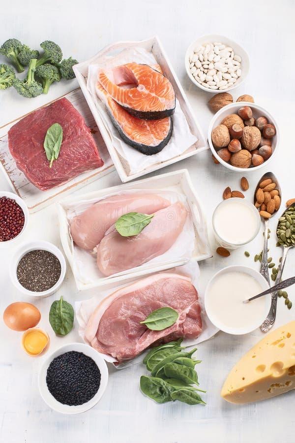 Wysoki - proteinowi foods obraz stock