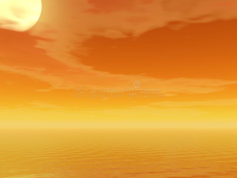 wysoki słońce ilustracja wektor