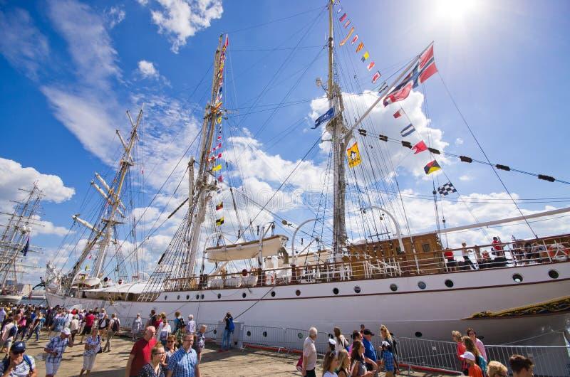 Wysoki statek Ściga się w Szczecińskim obrazy stock