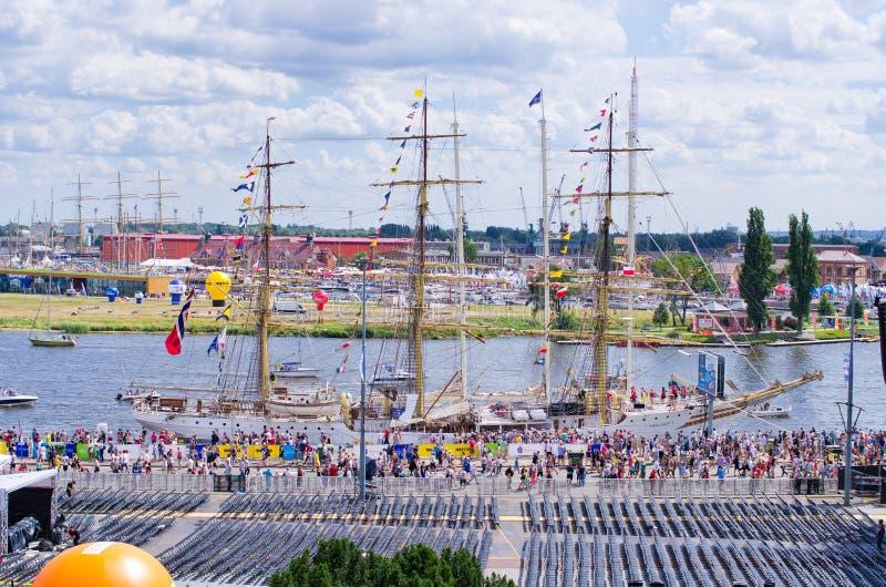 Wysoki statek Ściga się w Szczecińskim zdjęcie stock