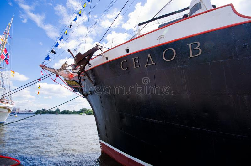 Wysoki statek Ściga się w Szczecińskim obraz stock