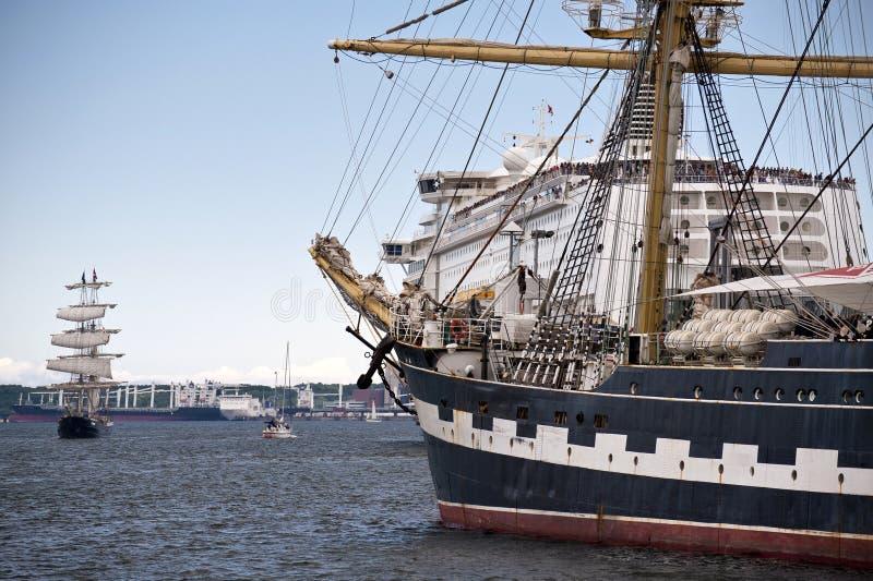 Wysoki statek zdjęcie royalty free