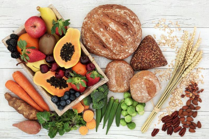Wysoki włókien zdrowie jedzenie zdjęcia royalty free