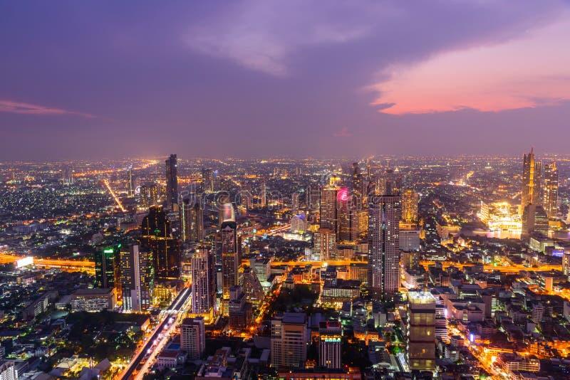 Wysoki widok Bangkok miasto zdjęcia royalty free