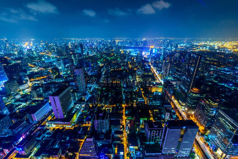 Wysoki widok Bangkok miasto obrazy stock