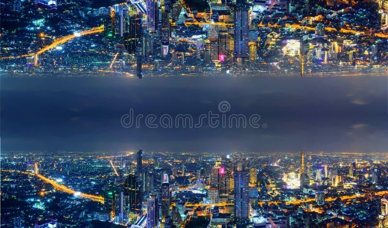 Wysoki widok miasto z zboczeniec strony procesem s fotografia royalty free