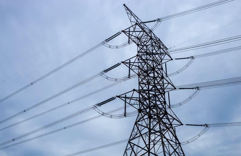 Wysoki wierza elektryczny zdjęcia stock