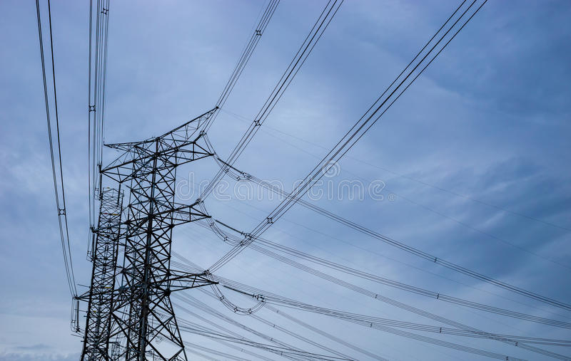 Wysoki wierza elektryczny obraz stock