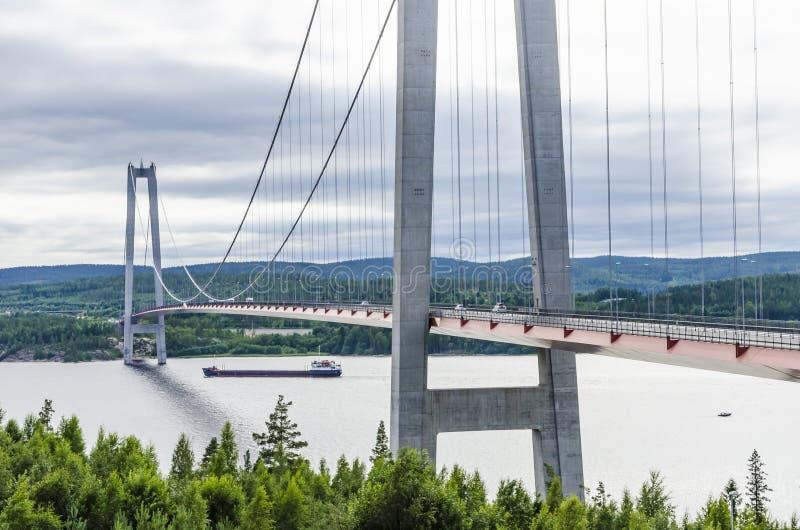 Wysoki wybrzeże most Szwecja obrazy royalty free