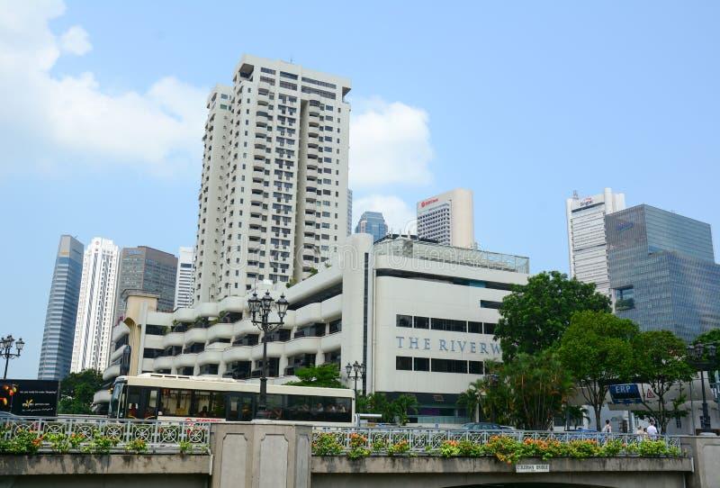 Download Wysoki Wzrosta Budynek W Centrum Singapur Obraz Stock Editorial - Obraz złożonej z architektoniczny, błękitny: 57654514