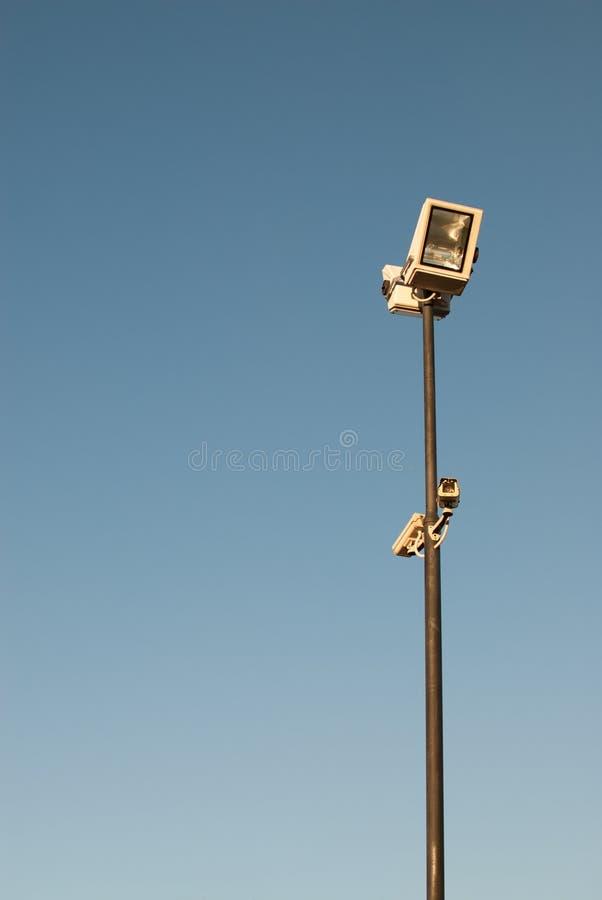 Wysokie bezpieczeństwo kamera i światła obraz royalty free