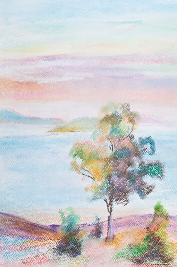 wysokie drzewa ilustracji