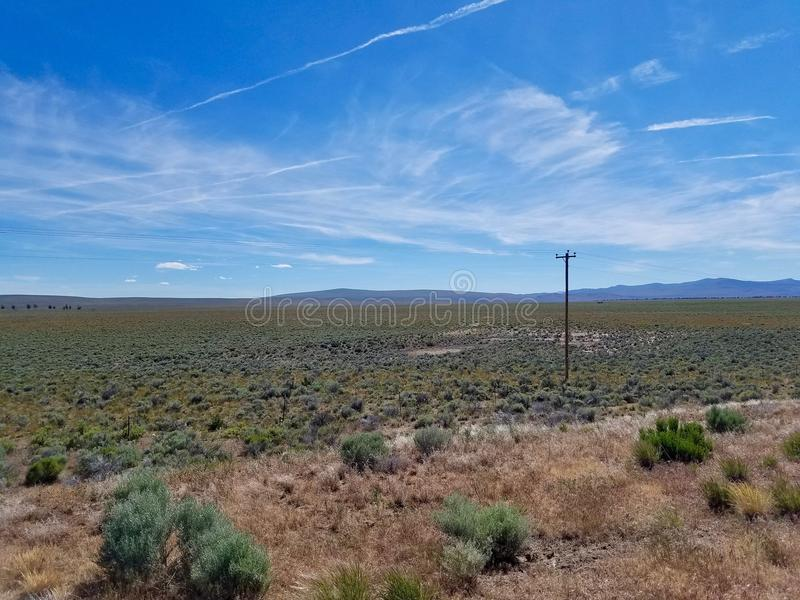 Wysokie pustynne równiny w środkowym Oregon, usa fotografia royalty free