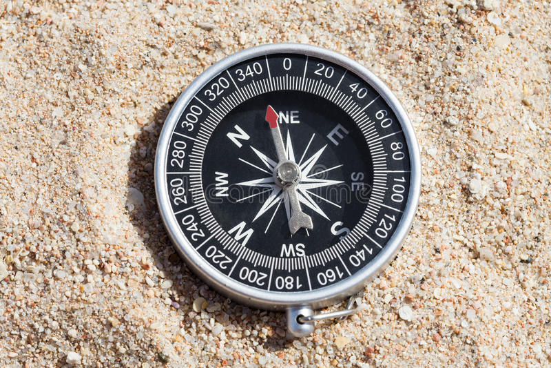 Wysokiego kąta widok kompas obraz stock